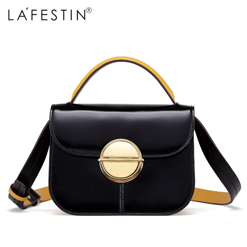 a372701258 LAFESTIN 2018 Women Handbag Leather Bag Lady Soild Shoulder Bag Crossbody Bags  Fashion Female Bags