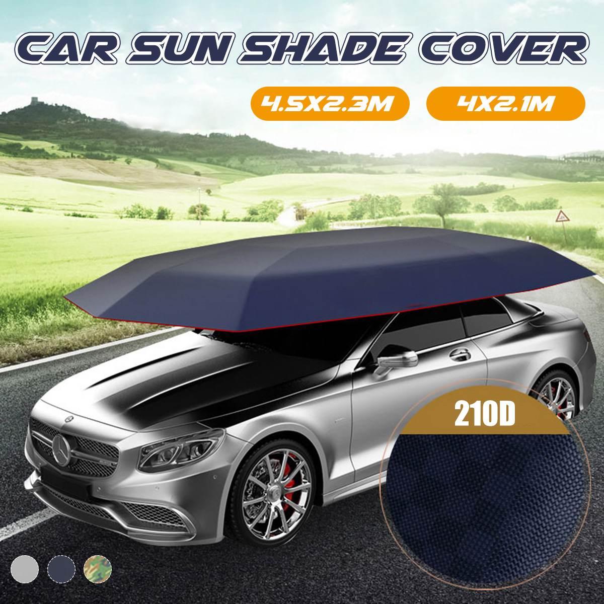 Imperméable à l'eau Anti UV extérieur voiture véhicule tente parapluie parasol couverture de toit voiture parapluie soleil ombre tissu sans support