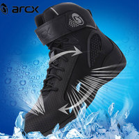 ARCX Motorcycle Boots Men Summer Mesh Motorcycle Shoes Motocross Boots Motorbike Riding Racing Botas Moto Boots Black L60625