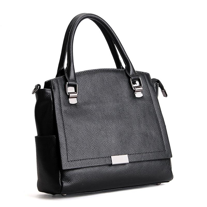 Genuine Real Leather Tote Bags Cowhide Women Handbag Messenger Casual Shoulder Bag