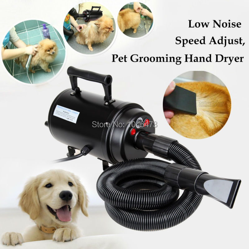 2800W Animal Pet Dog Cat Grooming Hair Dryer Heater with 3 Nozzles Portable Adjustable Blower Machine free shipping new version bs 2400 2200w low noise per dryer pet blower with eu plug dog cat variable speed dryer pet grooming