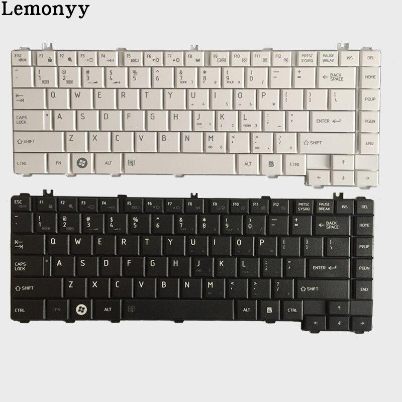 US laptop keyboard for toshiba Satellite C600 C600D L640 L600 L600D L630 C640 C645 L700 L640 L730 L635 US keyboard black/white new us keyboard black for toshiba satellite a500 a505 p200 p300 p505 l500 l505 l535 l550 l350 x505 x500 f501 laptop us keyboard