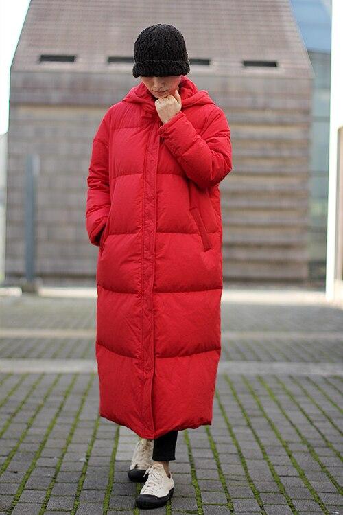 Размеры S 10XL X длинные Для женщин зимнее пуховое пальто Толстые Длинные куртки с капюшоном Для женщин вниз пальто с большой подол