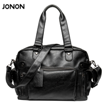 New Fashion Multifunction Mens PU leather Travel Bags Brand Waterproof Vintage men messenger bags high quality shoulder