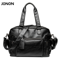 New Fashion Multifunction Mens PU Leather Travel Bags Brand Waterproof Vintage Men Messenger Bags High Quality
