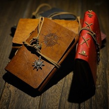 купить New Diary Book NoteBook Vintage Pirate Note Book Replaceable Traveler Notepad book Leather Cover Blank Notebook Journal Diary