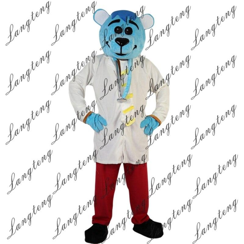 Горячая Распродажа Синий мышь талисман врача костюм Взрослый размер для Хэллоуина костюмированное платье костюм Бесплатная доставка 2019New