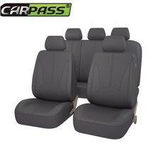 Car-pass 2017 искусственная кожа автомобильной универсальные чехлы сидений автомобиля черный/серый/бежевый для автомобилей Mazda Toyota hyundai