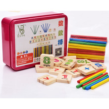 1SET Digital Intelligence Great Toys Montessori Math Wooden Material Color Calculation Early Education Enlightenment Toy WJ303