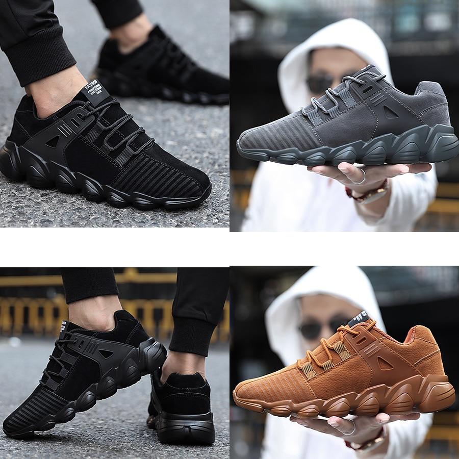 khaki La Chaussures Respirant gray Mlanxeue Dentelle Automne Up Mode Shoes Caoutchouc Hommes Shoes 2018 Shoes Taille Semelle Plus Sneakers En Casual Étudiant Black qwa1wvt