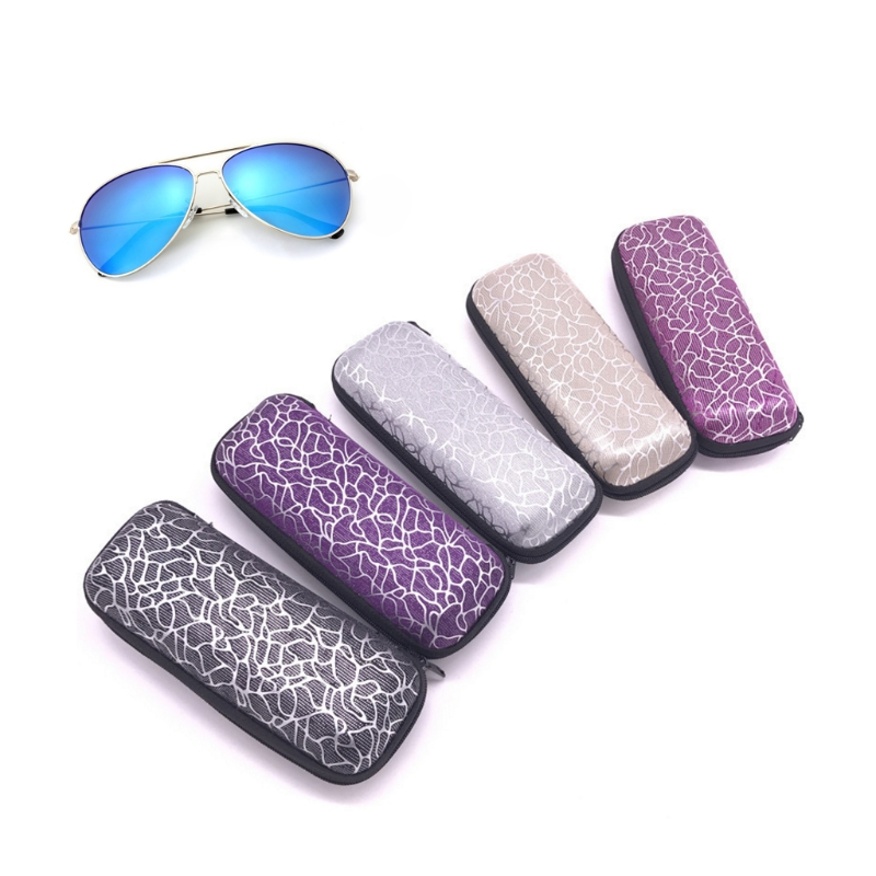 Glasses Box Zipper Stripe Unisex Sunglasses Protection Case Portable Containers
