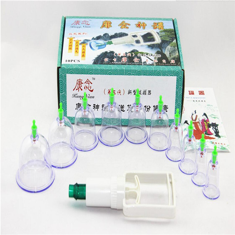 Vacuum Cupping,  Cans Household Magnets Hands Cupping Suction Type Traditional Massage Body Care T399 HealthS Care