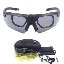 Polarized TR90 military goggles 3/5 Lens Ballistic Military Sport Men Sunglasses Army Bullet-proof Eyewear shooting Sun glasses