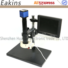 Wholesale prices 2.0MP Digital Industrial Microscope Camera VGA Video Output for Industry PCB Lab Microscope+300X Lens+Boom Table Stand