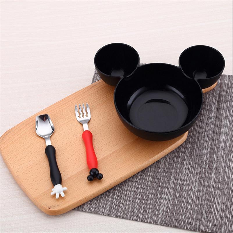 Kids Bowl Dinnerware Set Cartoon Creative Plate Child Plastic Tableware Cute Lunch Tray Dishs Christmas Gift DIY Fruit Plate