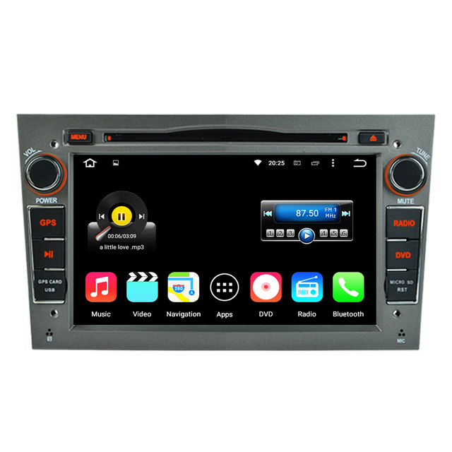 "1024x600 Quad Core Android 5.1.1 Dual Din 7"" Car DVD GPS For Opel Vectra Corsa Zafira Astra Antara Tigra Combo Grey Color"