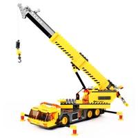 KAZI DIY 8045 Toys City Engineering Building Blocks Compatible Legoed Toys Crane Sets Education Bricks Gifts