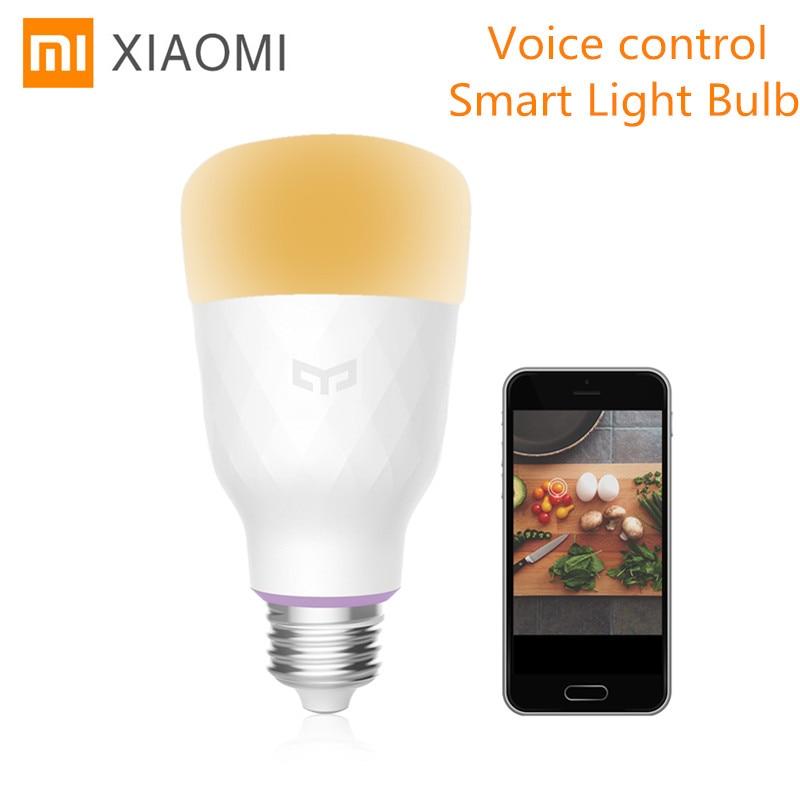 Xiaomi YEELIGHT YLDP06YL 10 W RGB E27 Control WiFi Control de voz inalámbrica inteligente bombilla de luz gran opciones de Color de la casa inteligente