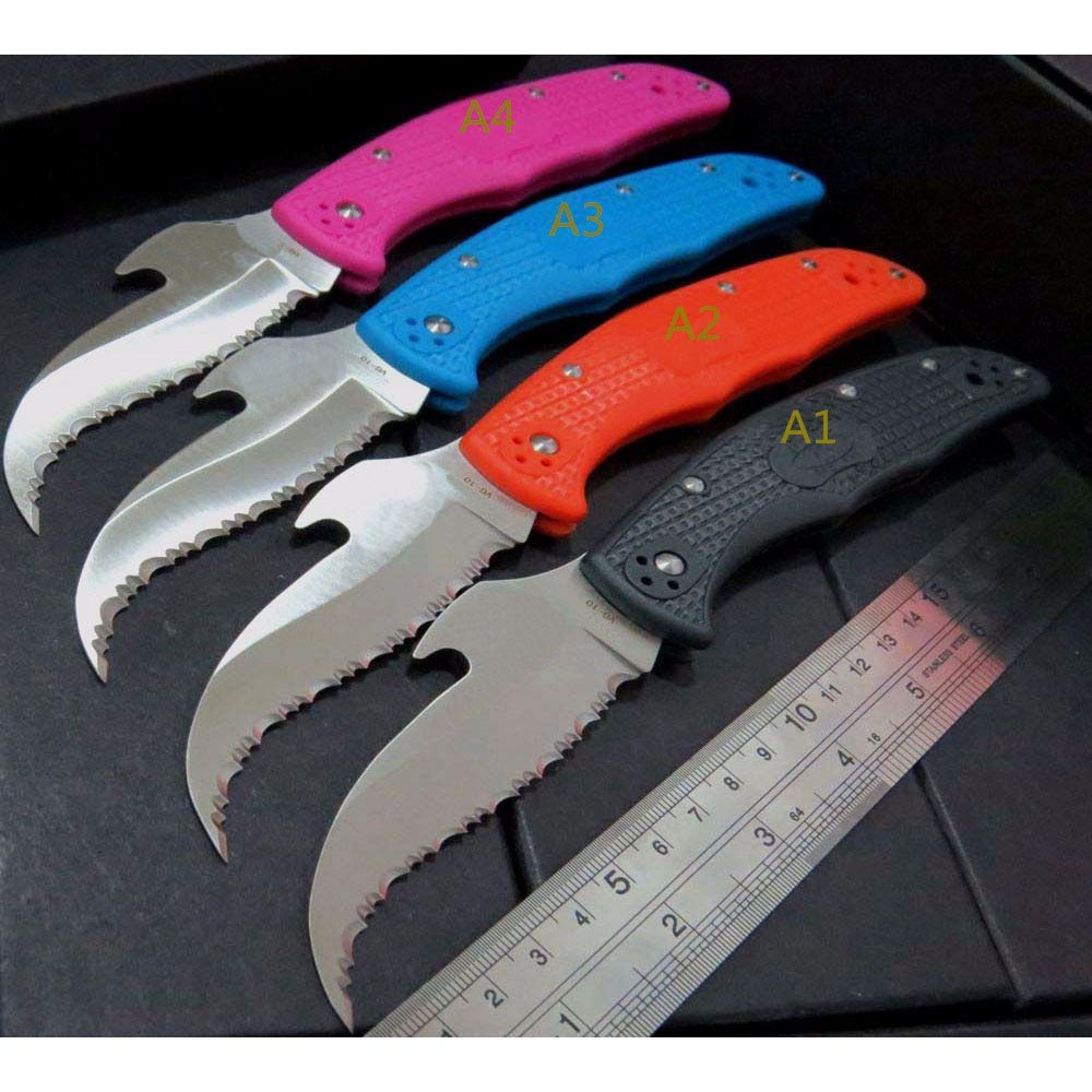 C10 Folding Knives C10S SBK2 CS GO Karambit Knife VG10 Serrated Blade knife Tactical Hunting Tools Gift Portable EDC Pocket Tool