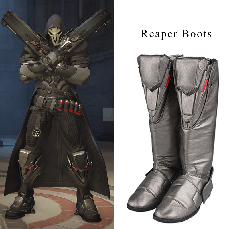 Reaper Cosplay Boots Gabriel Reyes Cosplay Shoes Men High Boots Hot Game Halloween Christmas Party Accessories For Male