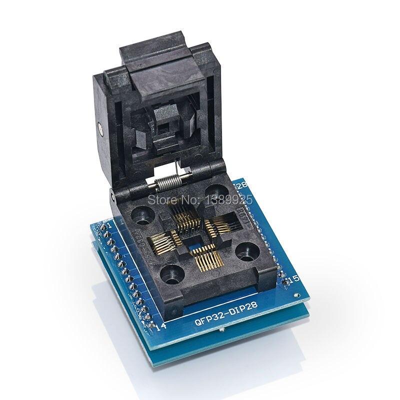 Top Quality Chip programmer TQFP32 QFP32 LQFP32 TO DIP28 adapter socket support ATMEGA8 series TL866A TL866CS YAMACHI Brand