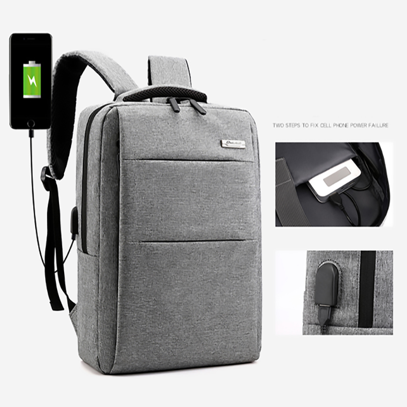 New Fashion Business Men Anti Theft Back Pack Laptop Backpack Big College Student School Bag Usb Rechargeable Bagpack Nylon 2019