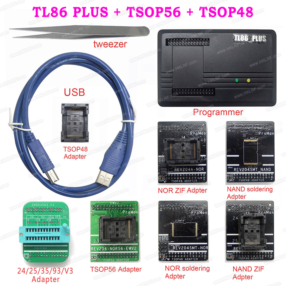 Free Shipping Proman TL86 Plus TSOP48 56 Professional Nand Nor Programmer Repair Tool Copy NAND FLASH