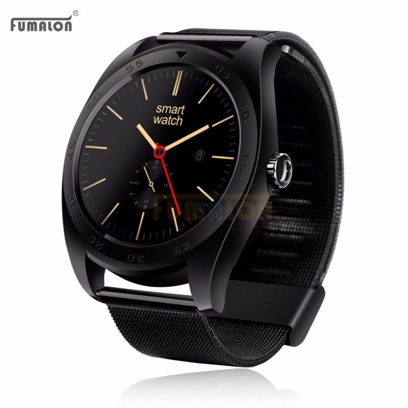 ФОТО Metal Round K9 Smart Watch MTK2502C Support Heart Rate Monitor Wake Up Gesture With Changeable Strap For IOS & Android Phone