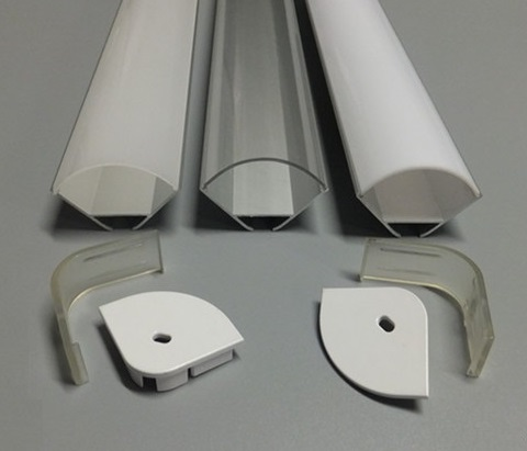 V-shape Aluminum Channel &#8211; <font><b>LED</b></font> Aluminum <font><b>Extrusion</b></font> for Flex/hard <font><b>LED</b></font> Strip Light White/milk Cover (100cm/39.37inch) Free Shipping