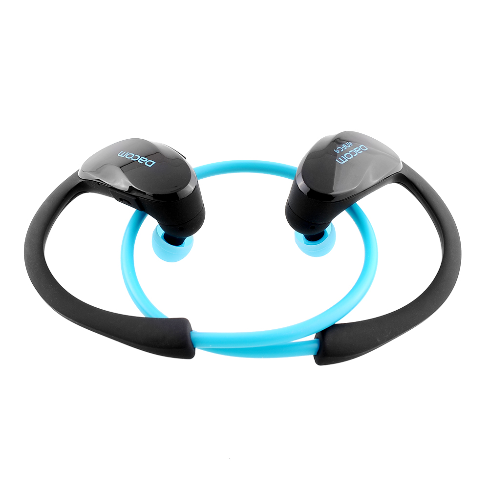 dacom nfc bluetooth headset wireless earphone sport headphone in ear with ear hook mic volume. Black Bedroom Furniture Sets. Home Design Ideas