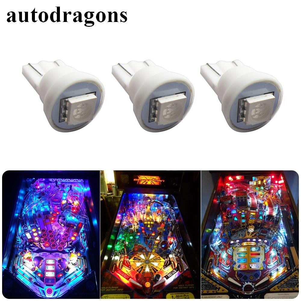 Autodragons 500 PCS #555 W5W 194 168 AC DC 6V/6.3V 1 LED 5050SMD LED Pinball Machine Light Bulb Lamp Anti Flickering
