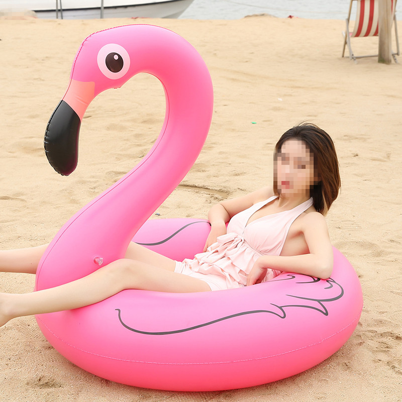 PVC Children Adults Giant Flamingo Unicorn Inflatable Swimming Ring Pool Party Float Swimming Circle For Water Safety Toys