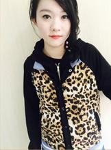 2018 Anime YURI !!! on ICE Cosplay Yuri Pulisetty Leopard Jacket Hooded sweater Halloween costume Unisex Double zipper Hoodie
