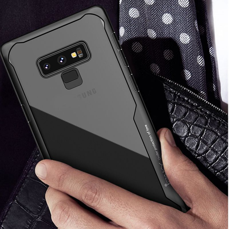 IPAKY For Samsung Galaxy Note 9 Case Soft Silicone TPU PC Transparent Back Cover Armor Shockproof Case For Samsung Galaxy Note 9 in Fitted Cases from Cellphones Telecommunications