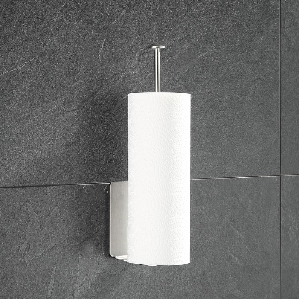 Us 11 76 45 Off Kitchen Tissue Holder Paper Towel Rack Wall Mount Vertical For Dispenser Roll In Storage