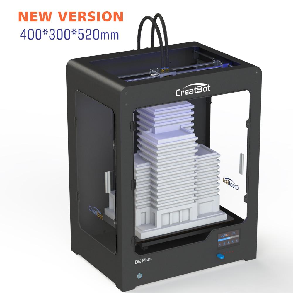 CreatBot DE PLUS02 suur ehitussuurus 400 * 300 * 520 mm Dual Extruder - Office elektroonika