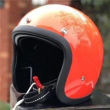 TT& CO ручной работы ретро мотоциклетный шлем 3/4 с открытым лицом мотоциклетный шлем Винтажный стиль DD кольцо Пряжка тонкий корпус старый стиль велосипеда