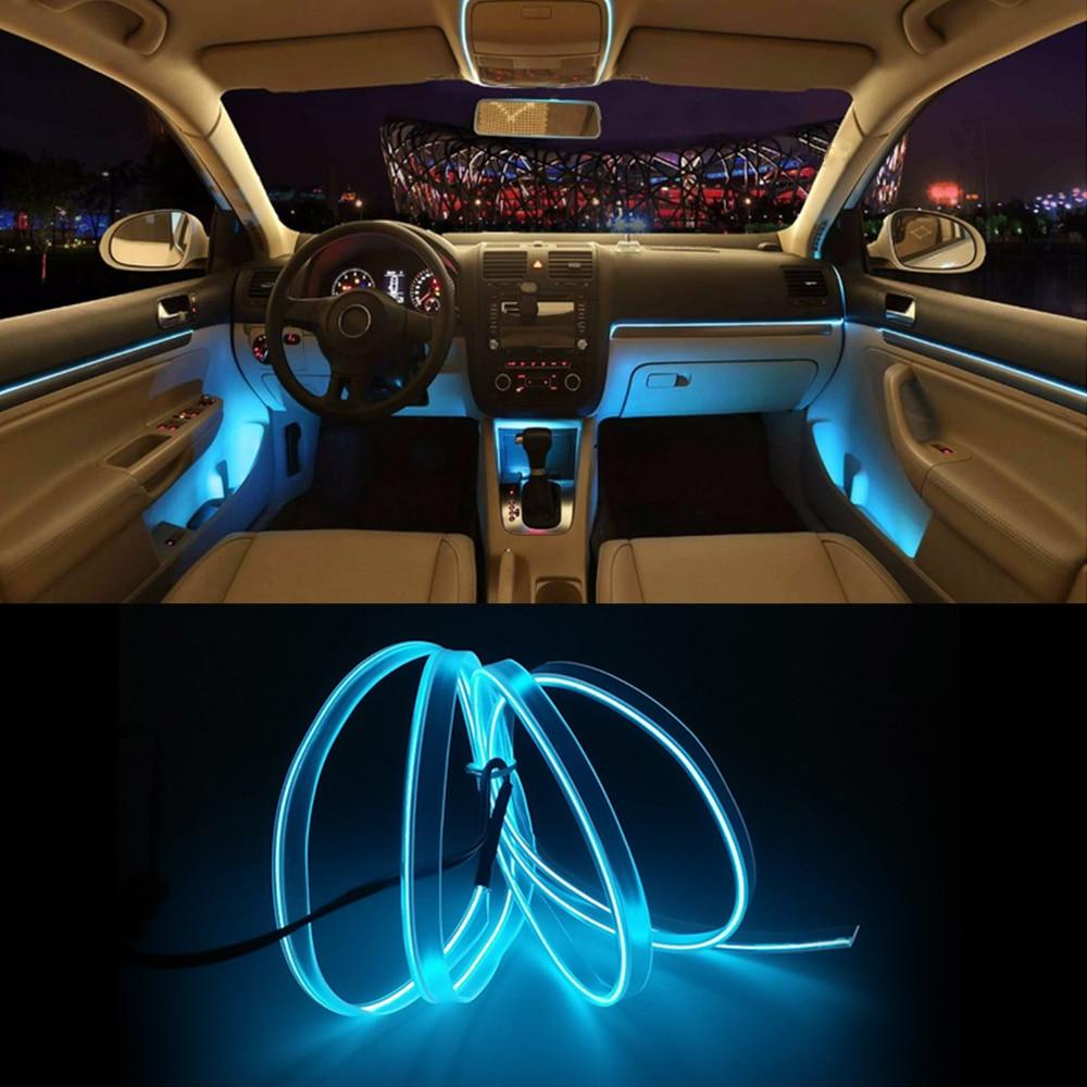 New Model Interior Car Lights EL Car Cold Light Line T10 LED Bulb Car LED Line 3 Meters-in