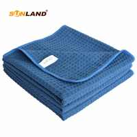 """3 PCS 16""""x24"""" 380gsm Thick Microfiber Waffle Weave Kitchen Towel Dish Drying Towels Washcloths Face Hand Towel"""