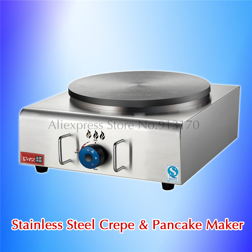 Commercial Gas Crepe Machine Double Pans Non-stick Plate Pancake Griddle Machine Chinese Jianbing Grill Stainless Steel jiqi stainless steel electric crepe maker plate grill crepe grill machine page 4