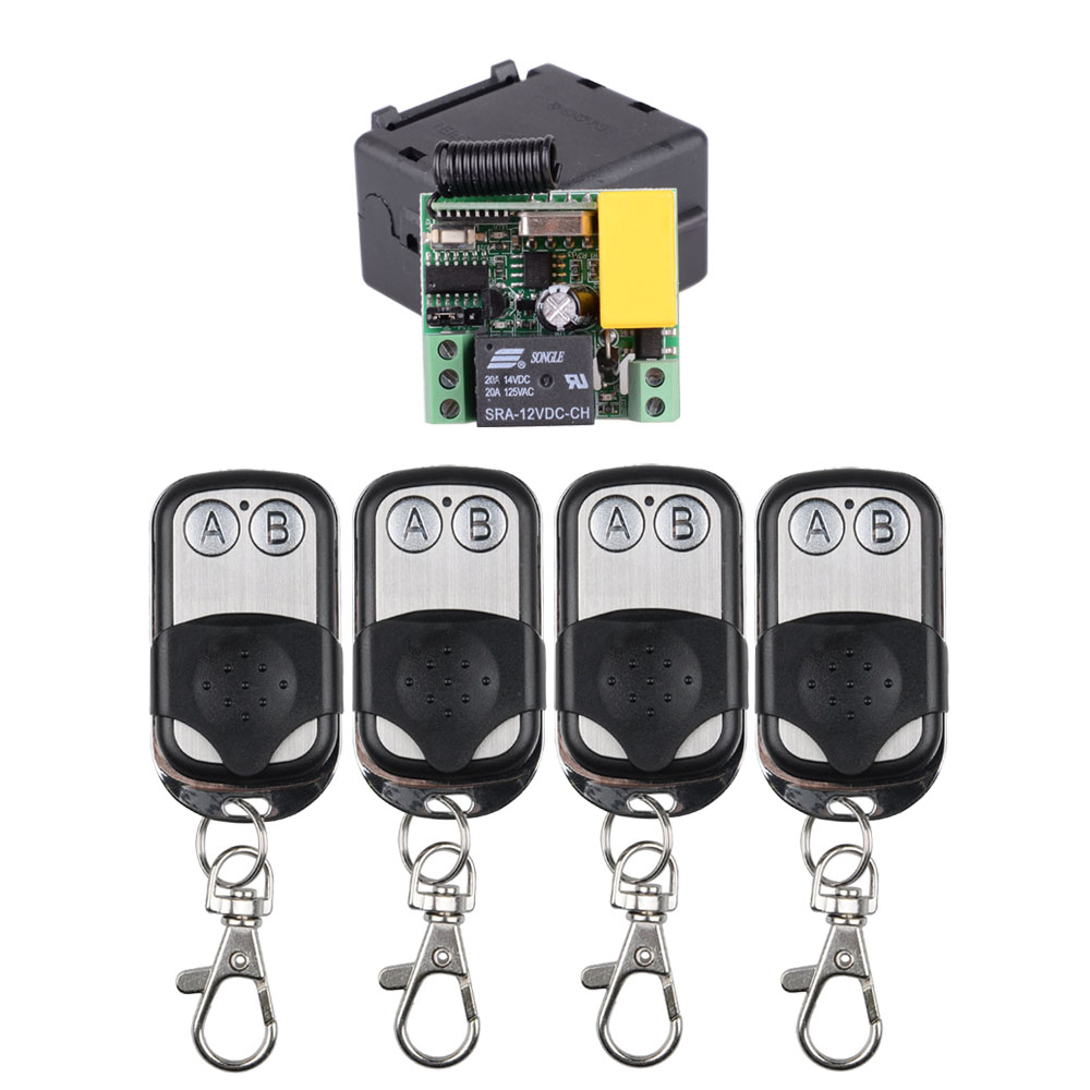 AC 220V 1CH 10A RF Wireless Remote Control Relay Switch Light System 433Mhz/315Mhz Receiver + 2Button Metal Protect Transmitter AC 220V 1CH 10A RF Wireless Remote Control Relay Switch Light System 433Mhz/315Mhz Receiver + 2Button Metal Protect Transmitter