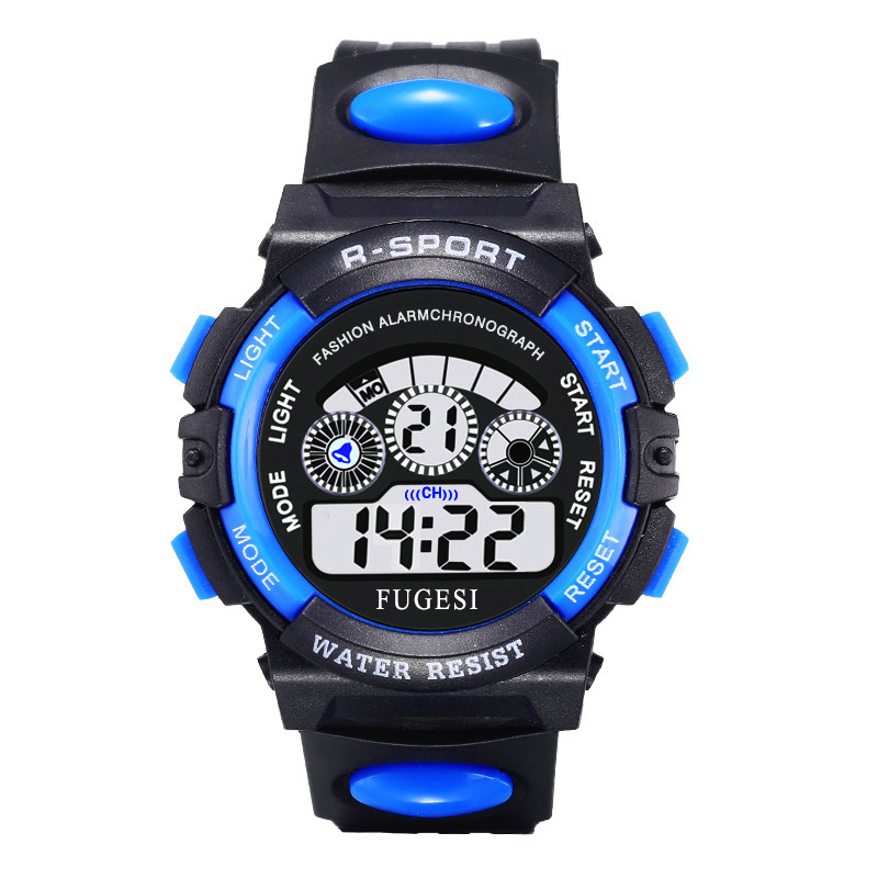 Sports-Watch Alarm-Clock Multi-Function Watch-Life Digital Girl Waterproof Luminous Child