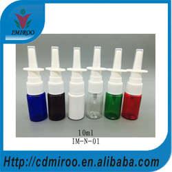 Бесплатная доставка для 50 + 2 шт. 10 мл ПЭТ очистить носовые бутылка-распылитель с цветами, Pet очистить носовые бутылка-распылитель