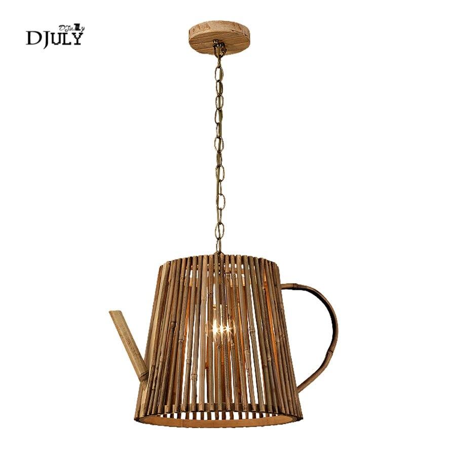 Clever Chinesischen Stil Handgemachte Bambus Teekanne Anhänger Lichter Vintage Home Deco Wohnzimmer Leuchten Loft Bar Restaurant Hängen Lampe