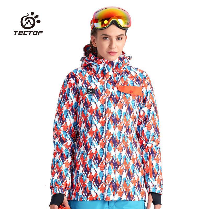 Tectop outdoor-35 degrés hommes/femmes ski costume vestes coupe-vent imperméable garder au chaud thermique balle extérieure vestes 2 couleurs 6676