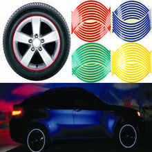 Hot!!! rim strips reflective tire car-styling decals wheel stickers motorcycle bicycle