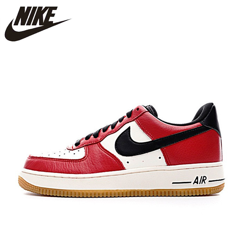 nike air force 1 low red and black