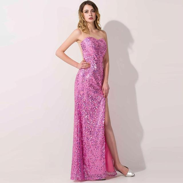 Foto del 100 de lentejuelas vestido de noche pura mesh back sexy ...