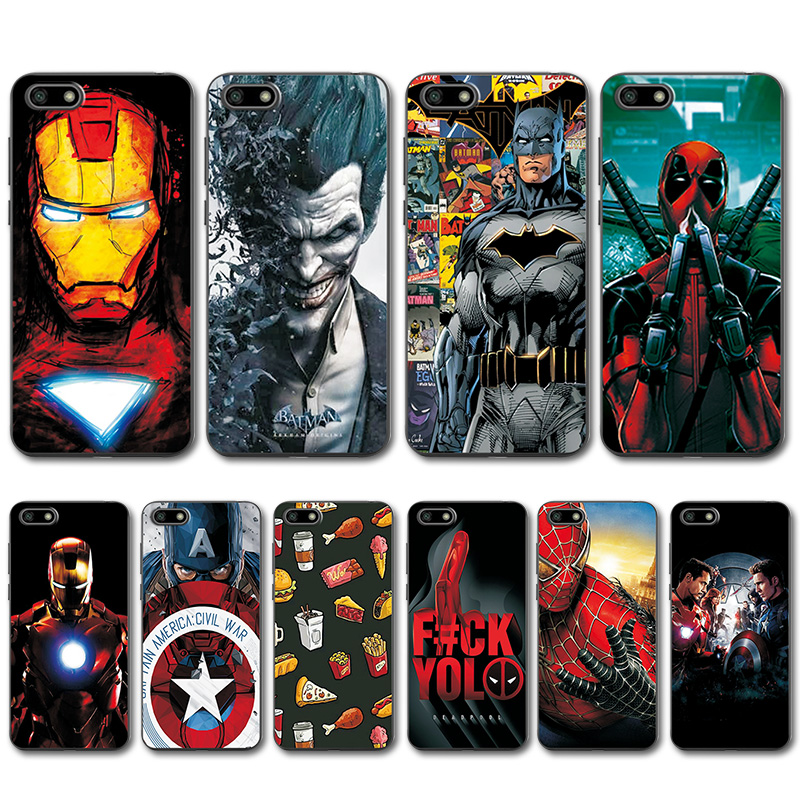 Fitted Cases Captain America Cover For Huawei Y5 Lite 2018 Case For Huawei Y5lite Novelty Phone Case For Huawei Y5 Lite 2018 Dra-lx5 5.45 Nourishing Blood And Adjusting Spirit Phone Bags & Cases