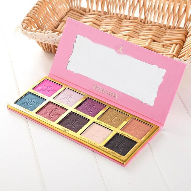 New Professional Eyeshadow Palette Shimmer Makeup Cosmetic Eye Shadow Powder 10 Colors Beauty Fashion High Quality